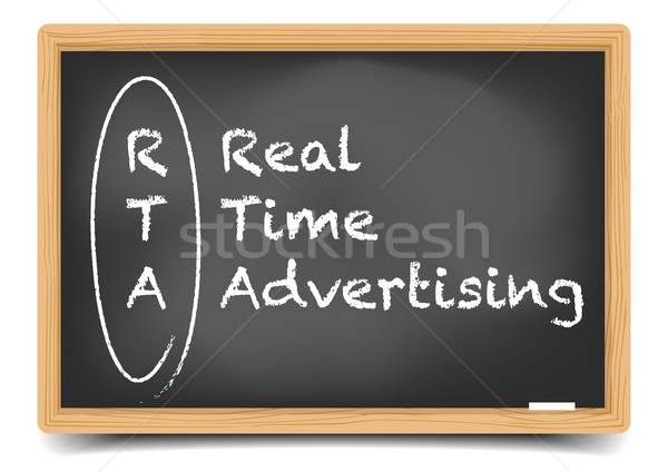 Real Time Advertising Stock photo © unkreatives