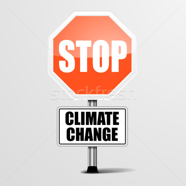 Stop Climate Change Stock photo © unkreatives