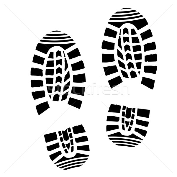 Shoe Print Silhouette Stock photo © unkreatives