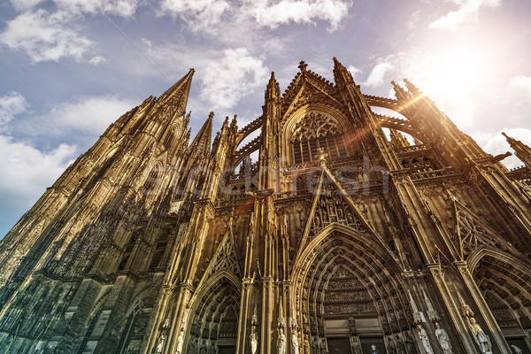 Cologne Cathedral in the sun Stock photo © unkreatives