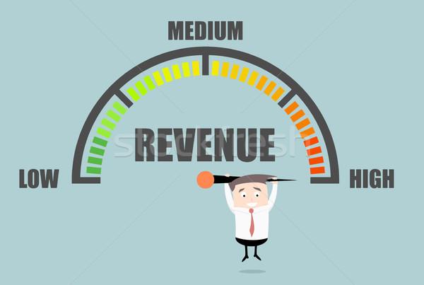 Businessman Revenue Meter Stock photo © unkreatives
