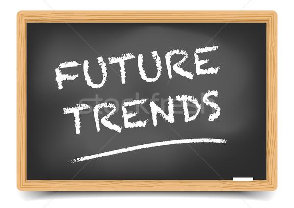 Tableau noir avenir tendances détaillée illustration texte Photo stock © unkreatives