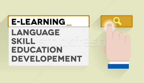 search e-learning Stock photo © unkreatives