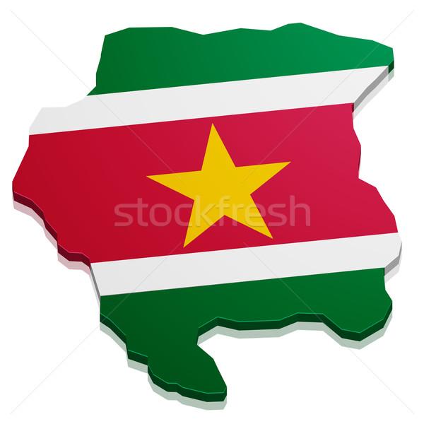 Map Suriname Stock photo © unkreatives