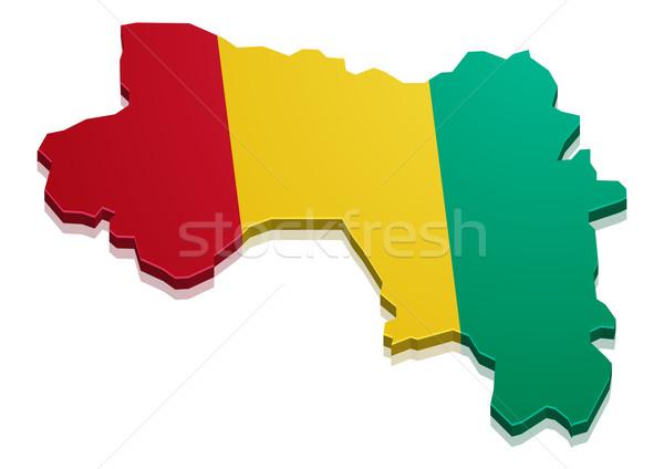 Map Guinea Stock photo © unkreatives