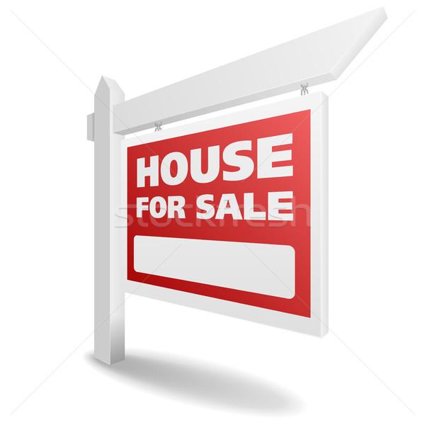 Imóveis casa venda detalhado ilustração a casa branca Foto stock © unkreatives
