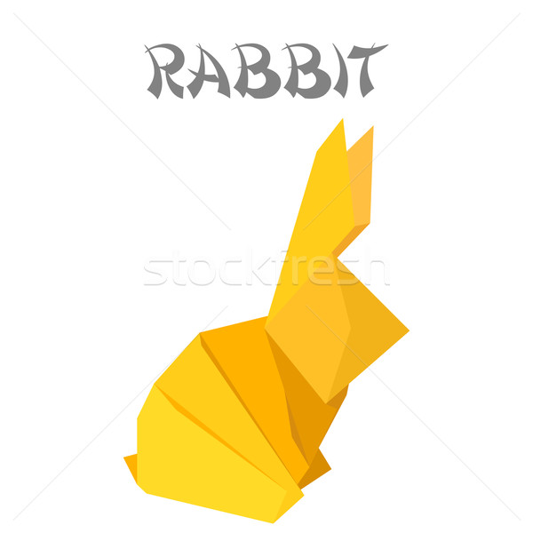 origami rabbit Stock photo © unkreatives