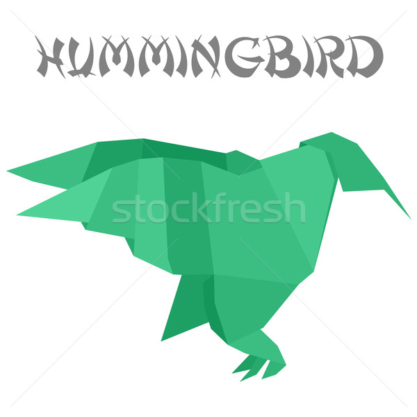 origami hummingbird Stock photo © unkreatives