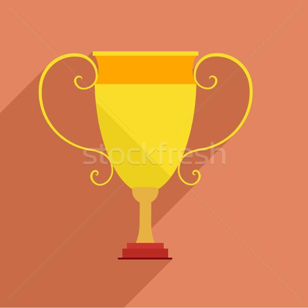 Trofeo detallado ilustración retro estilo eps10 Foto stock © unkreatives