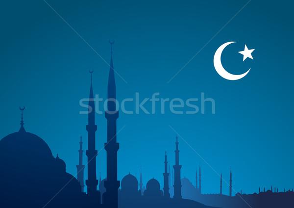 blue religious background Stock photo © unkreatives