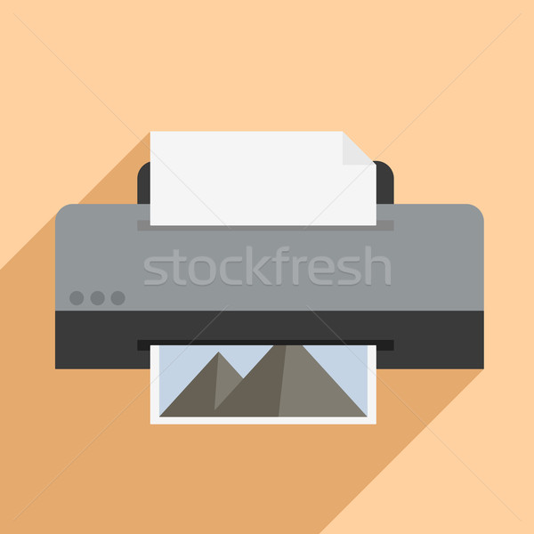 Printer illustratie eps10 vector business Stockfoto © unkreatives