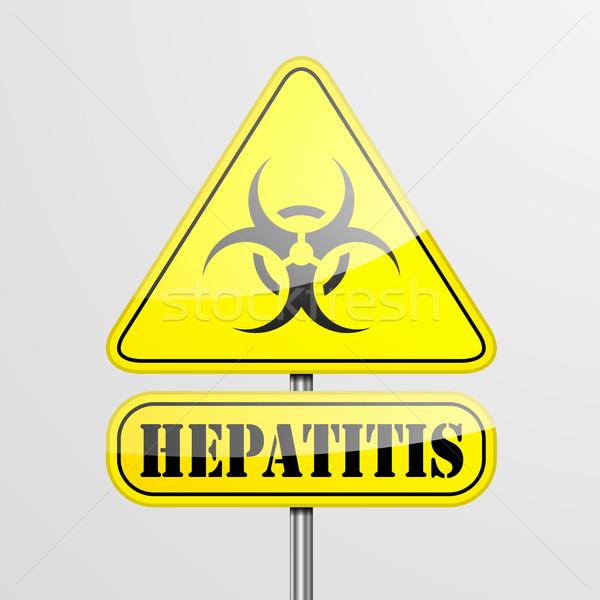 Yellow Hepatitis Warning Sign Stock photo © unkreatives