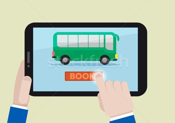 Livre illustration bus billet Photo stock © unkreatives