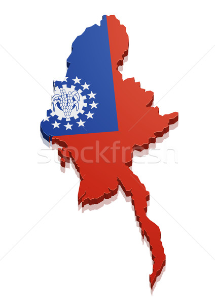 Map Myanmar Stock photo © unkreatives