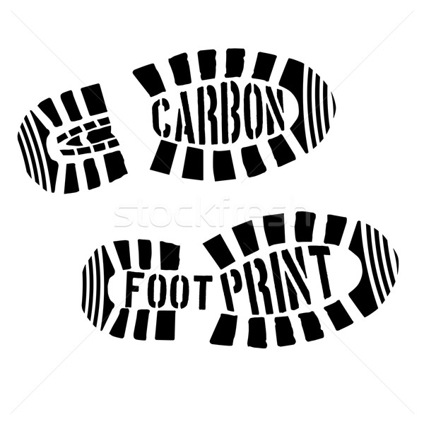 Carbon Footprint Shoeprints Stock photo © unkreatives