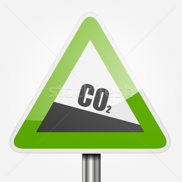 Traffic Sign CO2 Stock photo © unkreatives