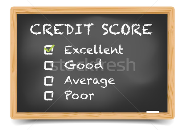 Blackboard Credit Score Stock photo © unkreatives