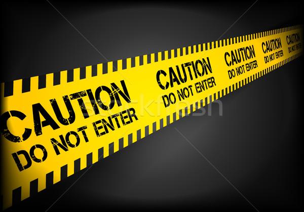 Do Not Enter Line Stock photo © unkreatives