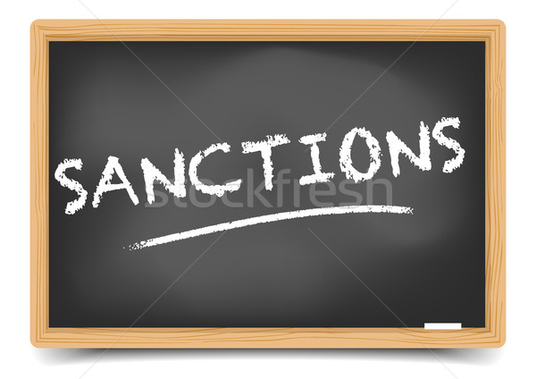 Stock photo: Blackboard Concept Sanctions