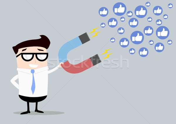 Businessman attracting likes Stock photo © unkreatives