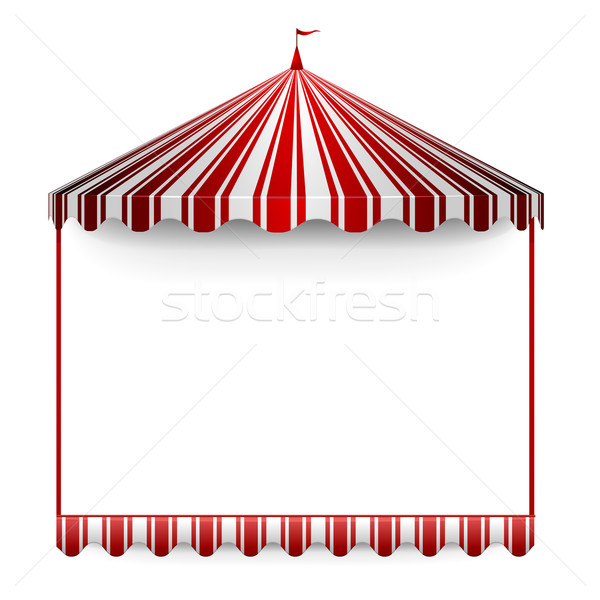 Tent frame gedetailleerd illustratie circus top Stockfoto © unkreatives