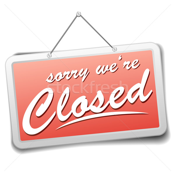 Stock photo: sign closed