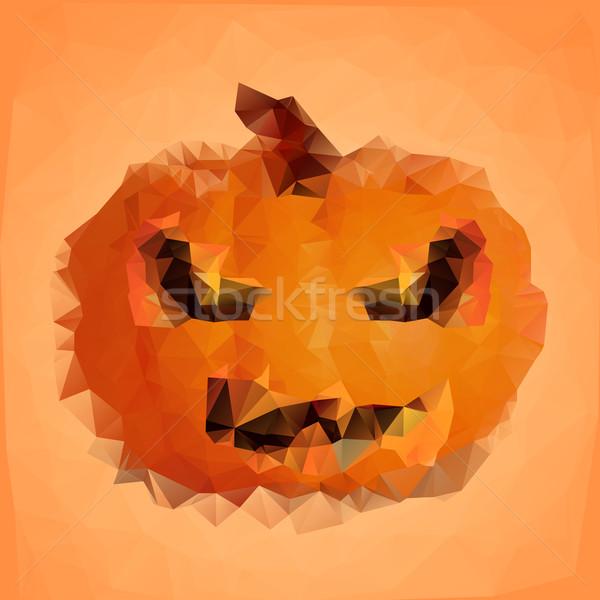 polygonal halloween pumpkin Stock photo © unkreatives