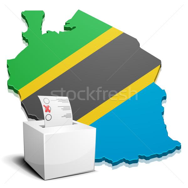 Tanzanya ayrıntılı örnek harita eps10 vektör Stok fotoğraf © unkreatives