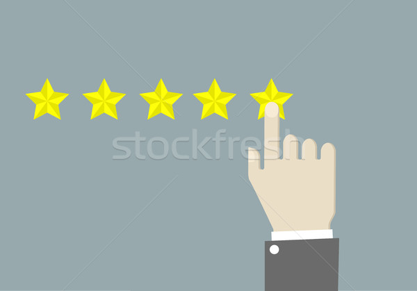Five Star Rating Stock photo © unkreatives