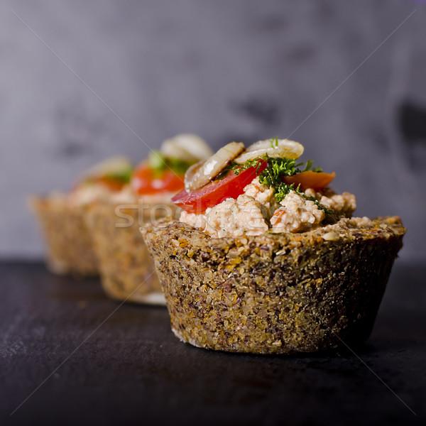 Klein rauw voedsel veganistisch moer vulling groenten Stockfoto © unkreatives
