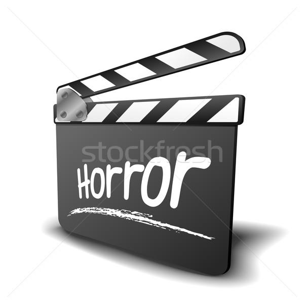 Bord horreur détaillée illustration symbole film Photo stock © unkreatives