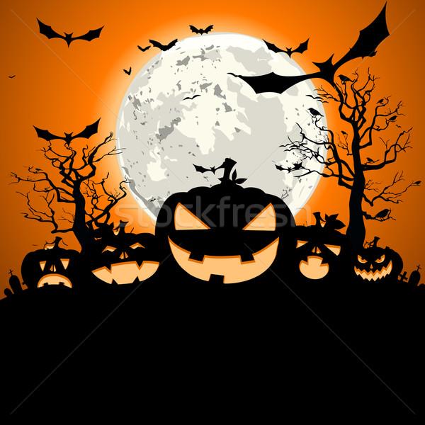 halloween pumpkins Stock photo © unkreatives