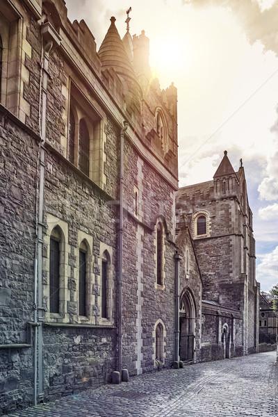 средневековых ирландский замок Дублин Ирландия трава Сток-фото © unkreatives