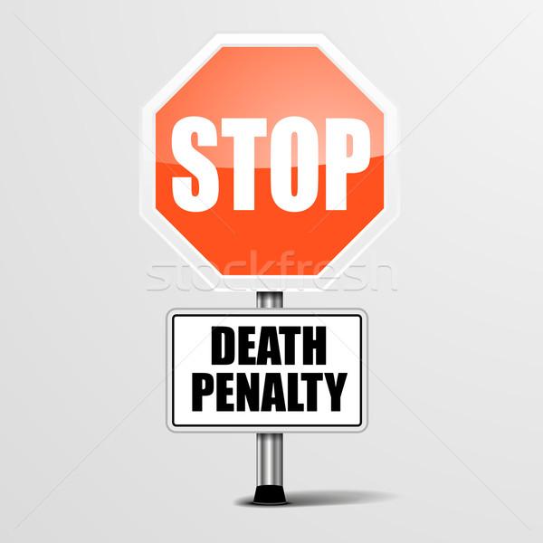 Parada muerte pena detallado ilustración rojo Foto stock © unkreatives