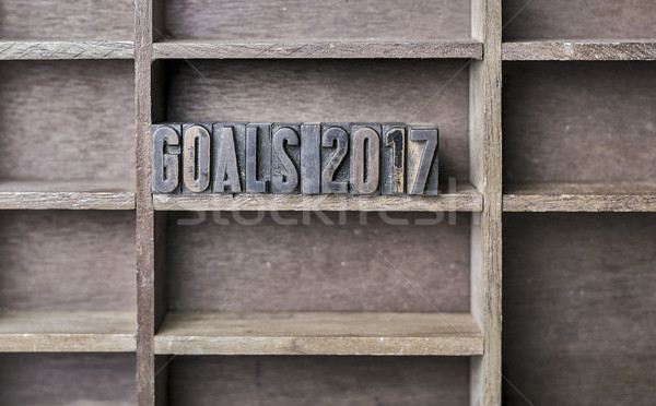 Wooden Letter Goals 2017 Stock photo © unkreatives