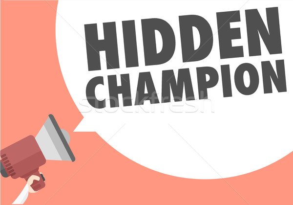 Megafon rejtett bajnok minimalista illusztráció szöveg Stock fotó © unkreatives