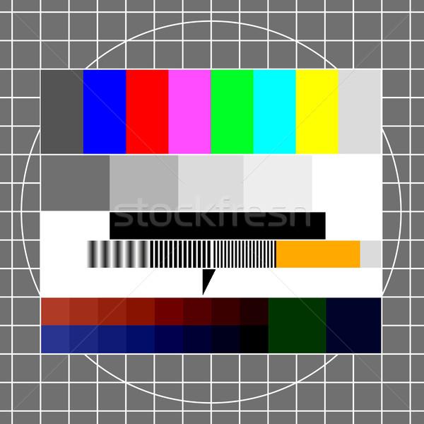 TV test image Stock photo © unkreatives