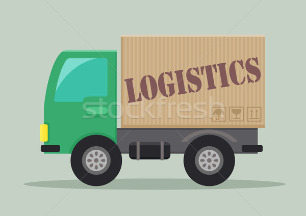 грузовик логистика подробный иллюстрация Label eps10 Сток-фото © unkreatives