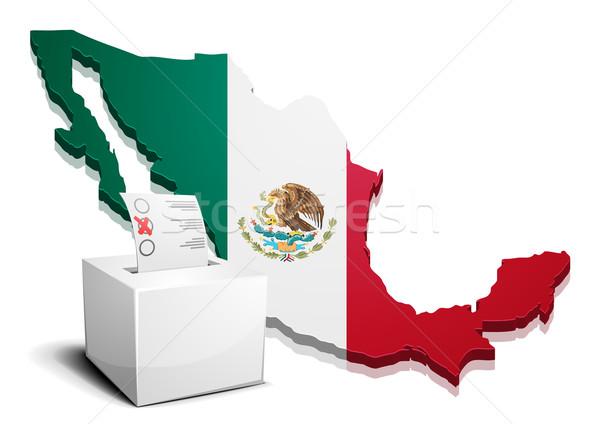 Mexique détaillée illustration carte eps10 vecteur Photo stock © unkreatives