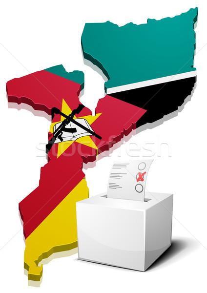 ballotbox Mozambique Stock photo © unkreatives