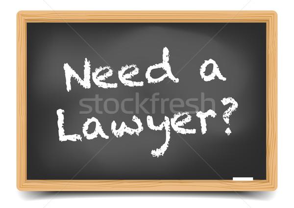 Behoefte advocaat gedetailleerd illustratie Blackboard tekst Stockfoto © unkreatives