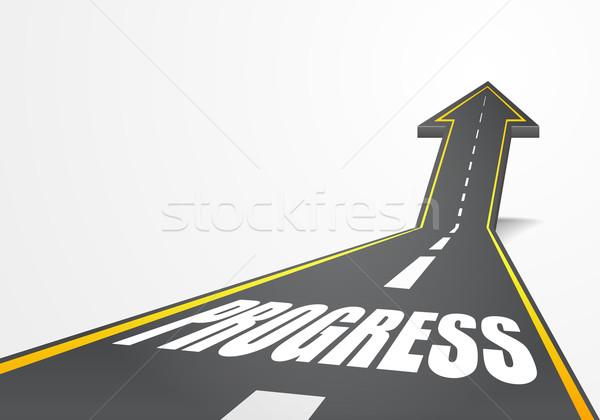 Stok fotoğraf: Yol · ilerleme · ayrıntılı · örnek · karayolu · yukarı