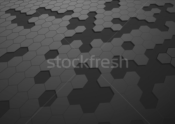 Hatszög illusztráció fekete eps10 vektor terv Stock fotó © unkreatives