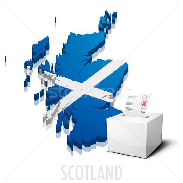 Kaart Schotland gedetailleerd illustratie eps10 vector Stockfoto © unkreatives