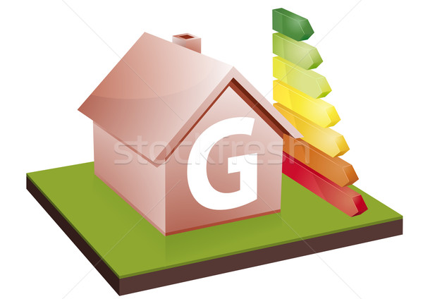 Huis energie-efficiëntie klasse bars tonen Stockfoto © unkreatives