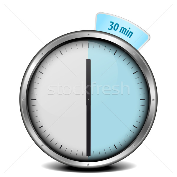 Timer Illustration Metall Uhr Glas blau Stock foto © unkreatives