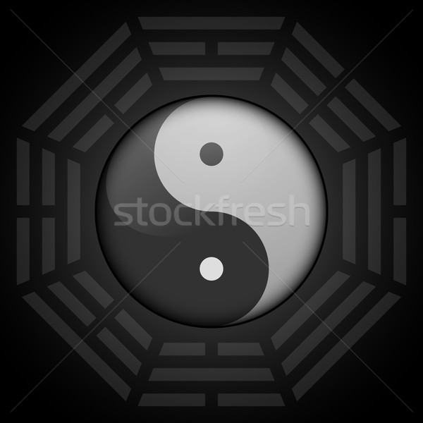 yin yang with bagua octagon Stock photo © unkreatives