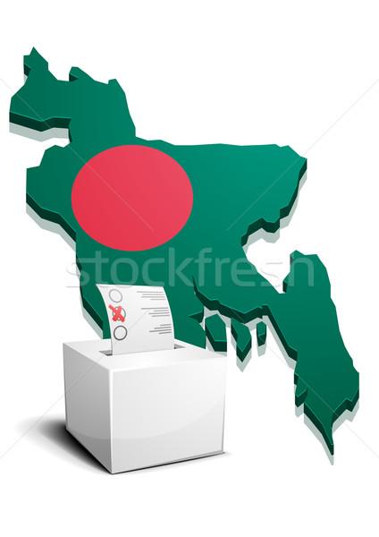 Banglades részletes illusztráció térkép eps10 vektor Stock fotó © unkreatives