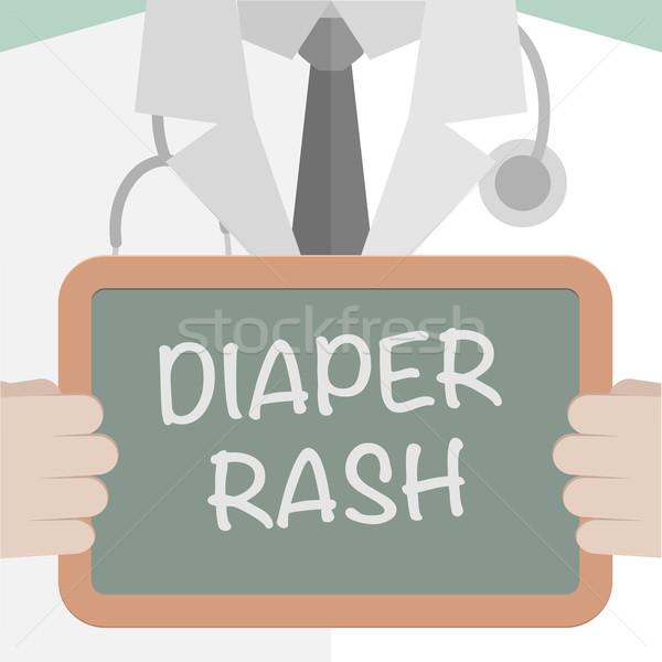 Stock photo: Board Diaper Rash