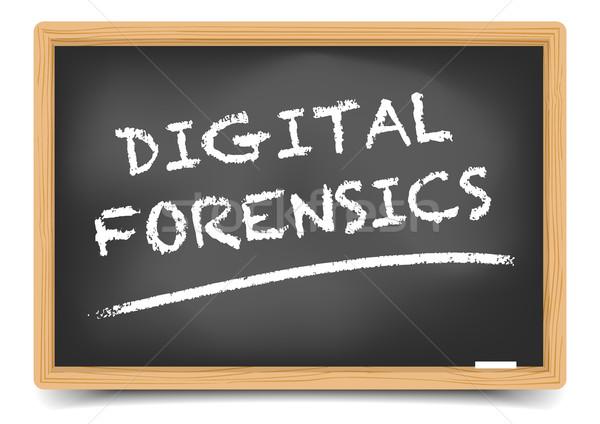 Blackboard Digital Forensics Stock photo © unkreatives